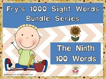 Fry's Ninth 100 Sight Words Bundle by EdTunes Jr.