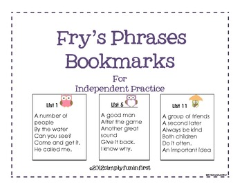 fry phrases flash cards pdf