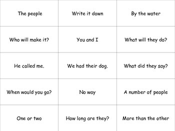 Fry's Phrases Fluency Board Game with Voice Cards!