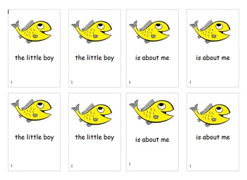 Fry Word Phrases Go Fish Game List 1