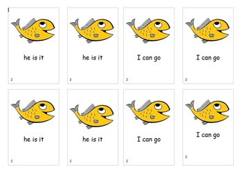 Fry Sight Word Phrases Go Fish Game List 2