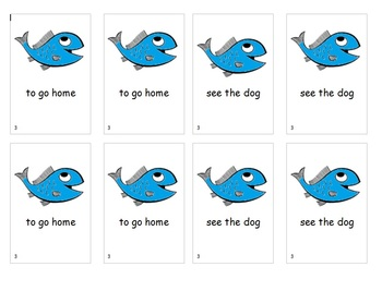 Fry Sight Word Phrases Go Fish Game List 3