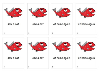 Fry Sight Word Phrases Go Fish Game List 5
