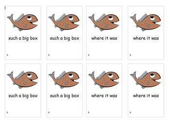 Fry Sight Word Phrases Go Fish Game List 6