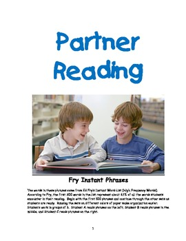 Fry's Phrases Partner Reading