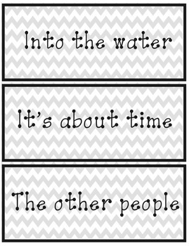Fry's Phrases for Fluency/Progress Monitoring Flash Cards- 480+ Cards (Chevron)