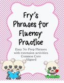 Fry's Phrases to Increase Fluency