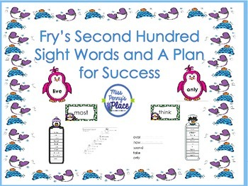 Fry's Second 100 High Frequency Words - A Plan for Success