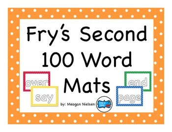Fry's Second 100 Sight Word Kinesthetic Mats