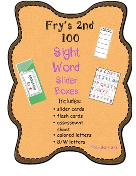 Fry's Second 100 Sight Word Slider Boxes