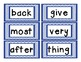 Fry's Second 100 Sight Words for Word Wall and More
