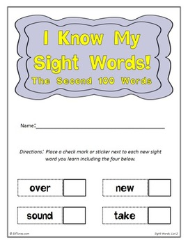 Fry's Second 100 Sight Words Flash Cards by EdTunes Jr.