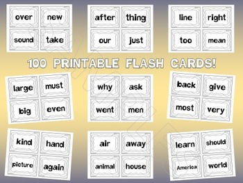 Fry's Second 100 Sight Words Work by EdTunes Jr.