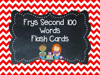 Frys Second 100 Word Flashcards