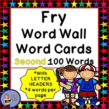 Fry Word Wall Cards - Second 100 - 2 SETS
