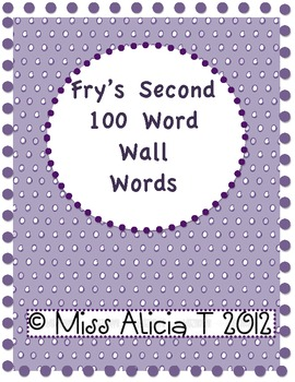 Fry's Second 100 Word Wall Words