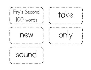 Fry's Second 100 Words