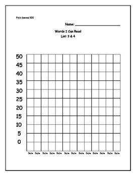 Fry's Second 100 Words Data Collection Forms Packet
