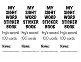 Fry's Second 100 Words Sticker Book
