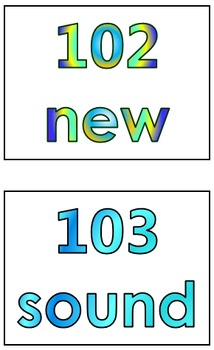 Fry's Second 100 Words in Print Order PowerPoint/Flash Cards - Grades K - 1