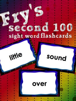 Fry's Second 100 sight word flashcards Great for fluency activities!