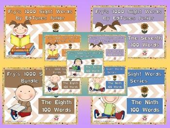 Fry's Second 500 Digital Sight Words Bundle by EdTunes Jr.
