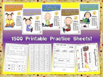 Fry's Second 500 Sight Words Work Mini Bundle by EdTunes Jr.