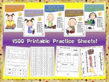 Fry's Second 500 Sight Words Work Mini Bundle by EdTunes Jr.
