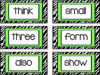Fry's Second Grade Word Cards