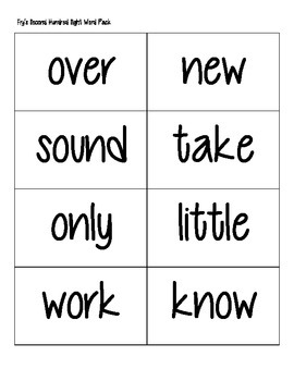 Fry's Second Hundred Sight Words Practice Pack
