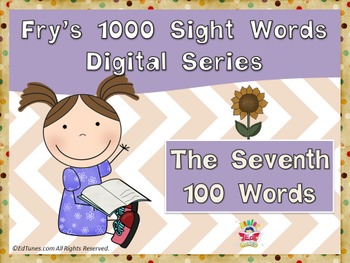 Fry's Seventh 100 Digital Sight Words by EdTunes Jr.