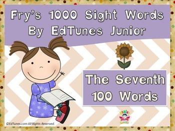 Fry's Seventh 100 Sight Words Bundle by EdTunes Jr.