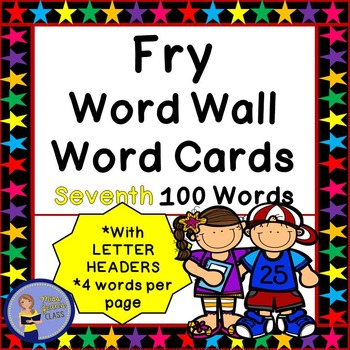 Fry Word Wall Cards - Seventh 100 - 2 SETS