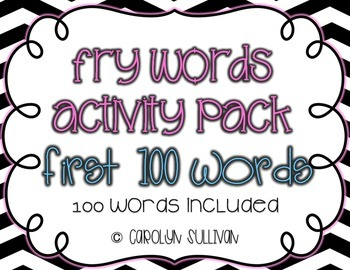 Fry's Sight Word Activities and Games (1-100)