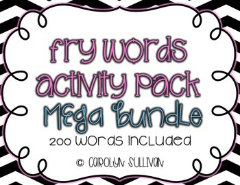 Fry's Sight Word Activities and Games MEGA BUNDLE