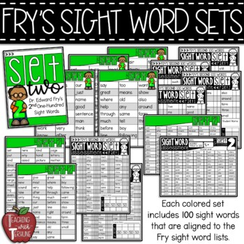 Fry's Sight Word Assessment Lists