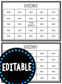 Fry Sight Word BINGO (Words 101-200) Editable