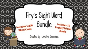 Fry's Sight Word Bundle