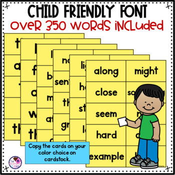 Fry's Sight Word Cards 1-300  *editable*