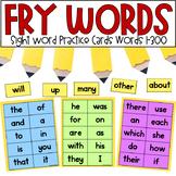 Fry Sight Word Cards 1-300  *editable*
