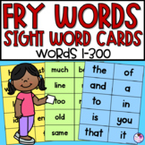 Fry Sight Words Flash Cards | Word Wall Cards | Words 1-300 |  Editable Cards