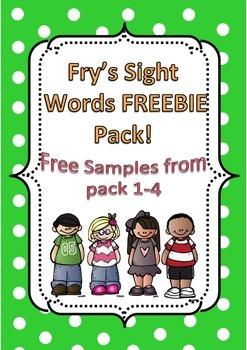 Fry's Sight Word FREEBIE Sample Pack