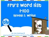 Fry's Sight Word List 1-100 for SMARTboard - a WINTER theme reveal & write