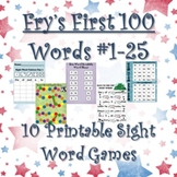 Fry's Sight Words #1-25: Ten Printable Games