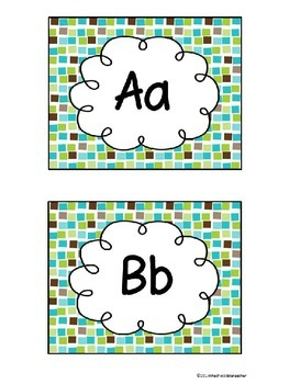 Fry's Sight Words 1-300 Word Wall Headers and Cards Brown Green Blue*editable*