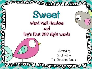 Fry's Sight Words 1-300 Word Wall Headers and Cards Gray A