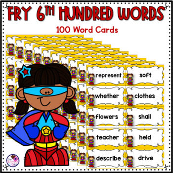Fry's Sight Words 6th Hundred Words Game