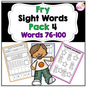 Fry Sight Words Pack 4 (Words 76-100)