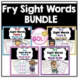 Fry Sight Words Activity Pack Bundle (Packs 1-4)