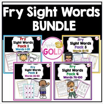 Fry's Sight Words Activity Pack Bundle (Packs 1-4)